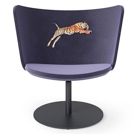 stoel Embroidery tiger van Cappelini