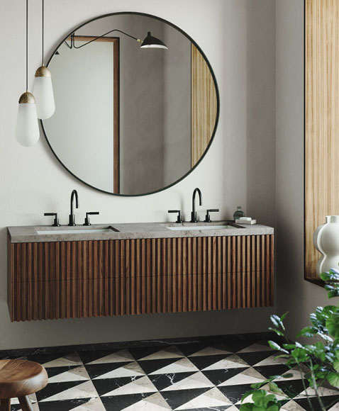 All eyes on brown & blue - bathroomdesign by Joanna Laven
