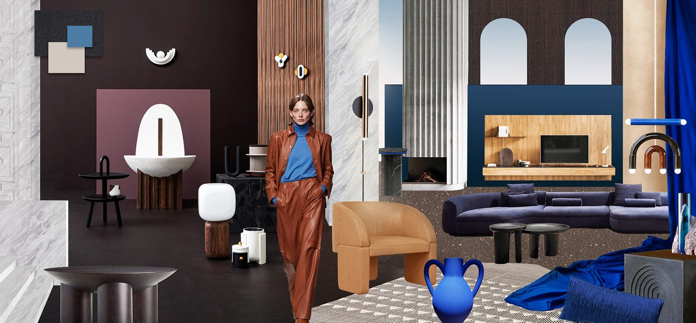 Mood All eyes on brown & blue - Trend Compass